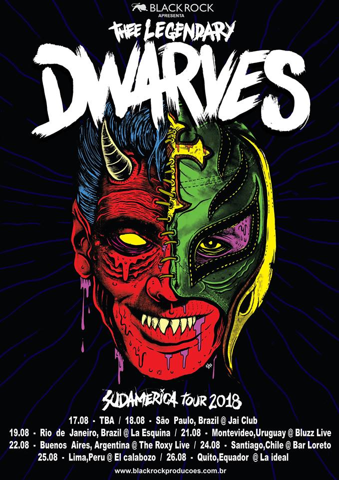 "The Dwarves divulga o recém lançado álbum ""Take Back The Night""."