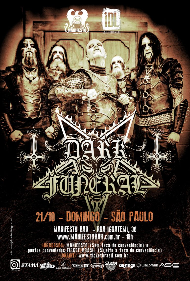Banda sueca de black metal toca no Manifesto Bar (SP)