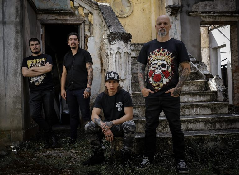 Legacy of Kain como quarteto (Felipe Mata, Markos Franzmann, Tiago Rodrigues e Karim Serri)