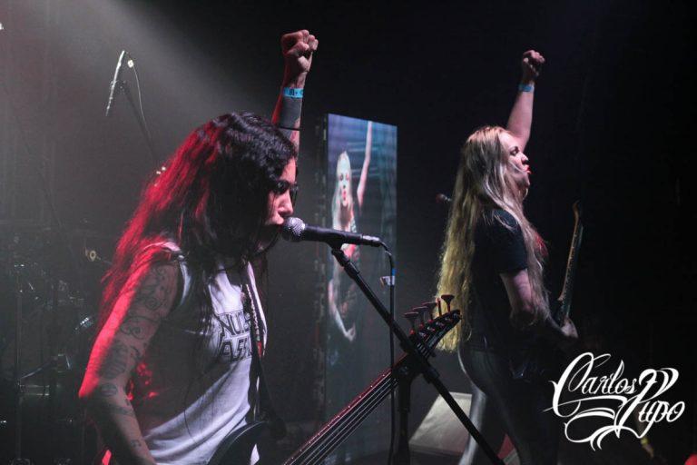 A banda de thrash metal Nervosa se apresenta no Oxigênio Festival, no Via Matarazzo, em São Paulo, no sábado, 14 de Setembro de 2019, com realização da Gig Music e do Hangar 110.