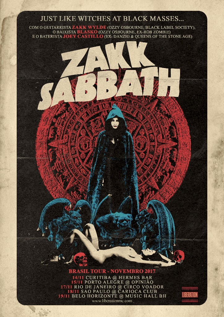 Zakk Wylde confirma shows no Brasil com tributo ao Sabbath