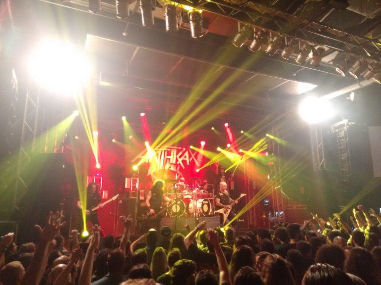 Êxtase e emoção com o Anthrax em Porto Alegre (RS)