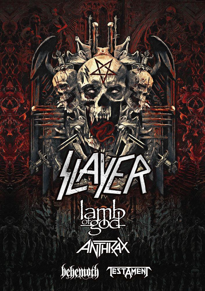 A turnê pela América do Norte conta com o apoio das bandas Lamb of God, Anthrax, Behemoth e Testament