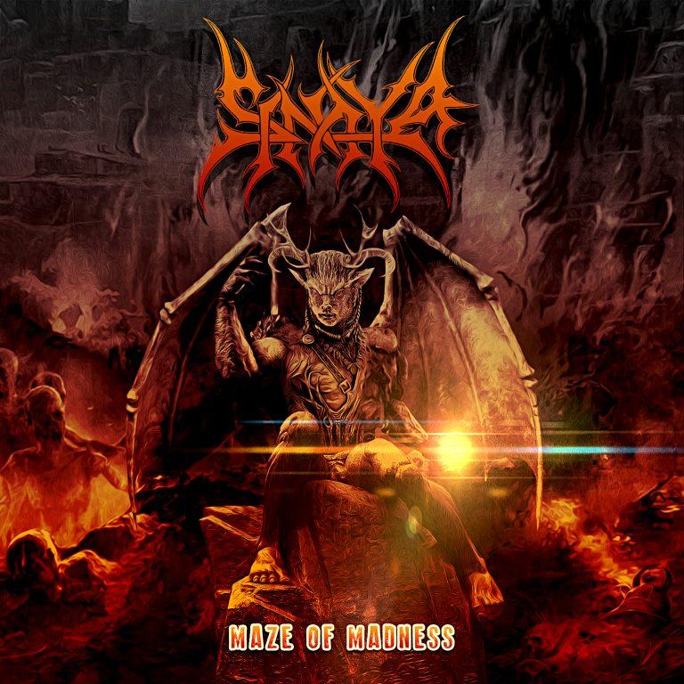 """A arte da capa de """"Maze of Madness"""", concebida pelo designer João Duarte, autor de capas para bandas como Metal Church e Torture Squad"""