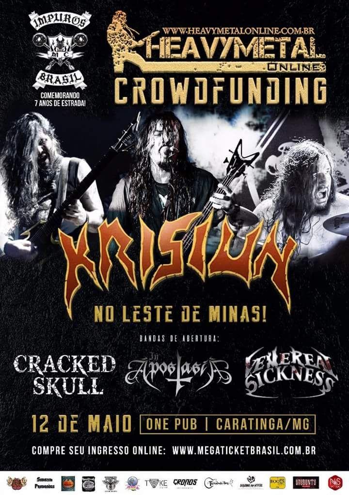 Ação crowdfunding para viabilizar evento com a banda Krisiun no leste de Minas Gerais
