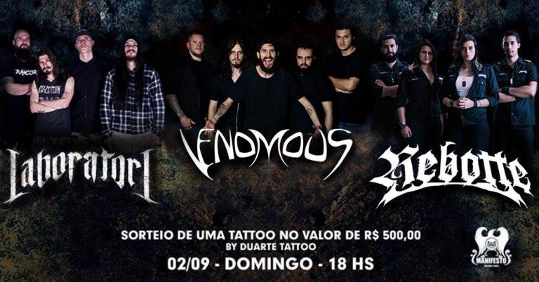 Grupo paulistano segue a turnê de Defiant com show ao lado do Laboratori e Rebotte em São Paulo