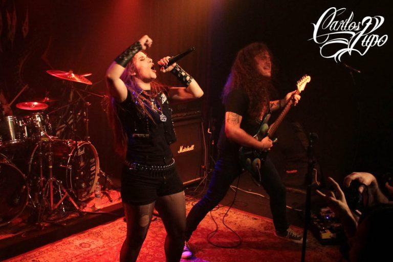 """A banda Torture Squad toca durante o lançamento do split álbum """"Living for Torture"""", juntamente com o grupo Living Metal, no Espaço Som, na Rua Teodoro Sampaio, em São Paulo, na noite de quarta-feira, 18 de setembro de 2019."""