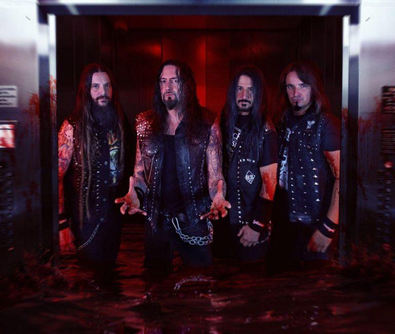 Nova formação do Destruction: (e/d) Martin Furia, Schmier, Randy Black e Damir Eskić