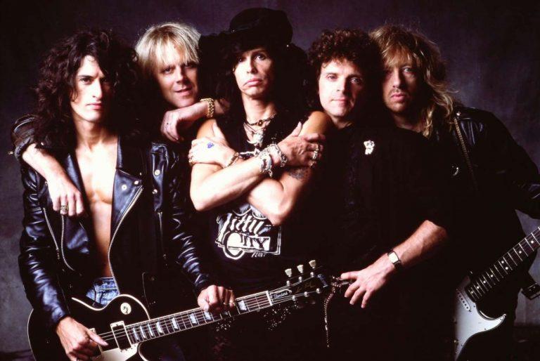"""Aerosmith em ensaio fotográfico para o álbum """"Pump"""""""